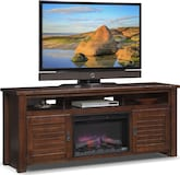 "Entertainment Furniture-Harrington 74"" Fireplace TV Stand"
