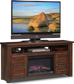 "Entertainment Furniture-Harrington 64"" Fireplace TV Stand"