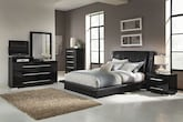 Bedroom Furniture-Prima Black 7 Pc. King Bedroom
