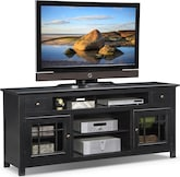 "Entertainment Furniture-Kittery Black 74"" TV Stand"