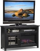 "Entertainment Furniture-Kittery Black 54"" Fireplace TV Stand"