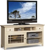 "Entertainment Furniture-Kittery White 64"" TV Stand"