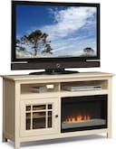 "Entertainment Furniture-Kittery White 54"" Fireplace TV Stand"