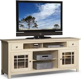 "Entertainment Furniture-Kittery White 74"" TV Stand"