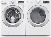 Washers and Dryers - LG Appliances Collection<br>Model WM3170CW/DLE3170W