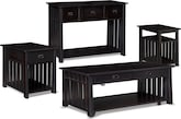 Accent and Occasional Furniture-The Hardwick Black Collection-Hardwick Black Lift-Top Cocktail Table