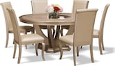 Dining Room Furniture-Calista 7 Pc. Dining Room