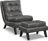 Living Room Furniture-Mott Accent Chair and Ottoman