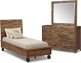 Bedroom Furniture-Andover 5 Pc. Twin Bedroom