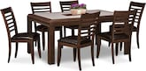 Dining Room Furniture-Hillsboro 7 Pc. Dinette