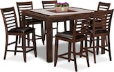 Dining Room Furniture-Hillsboro II 7 Pc. Counter-Height Dinette