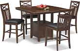 [Natchez Trail 5 Pc. Counter-Height Dining Room]