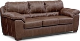 Living Room Furniture-Henson Brown Queen Sleeper Sofa