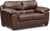Living Room Furniture-Henson Brown Loveseat