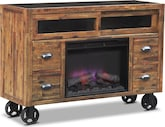 Entertainment Furniture-Andover Fireplace TV Stand