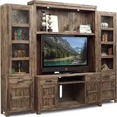 Entertainment Furniture-Hutchinson 4 Pc. Entertainment Wall Unit