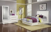 Bedroom Furniture-Prima II White 5 Pc. King Bedroom (Alternate)