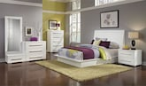 Bedroom Furniture-Prima II White 7 Pc. Queen Bedroom (Alternate)