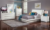 Bedroom Furniture-The Prima White Collection-Prima White Queen Bed