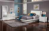 Bedroom Furniture-Prima White 6 Pc. King Bedroom (Alternate)
