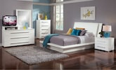 Bedroom Furniture-Prima White 7 Pc. King Bedroom
