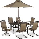 Outdoor Furniture-Ridgeville 9 Pc. Outdoor Dining Room
