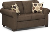 Living Room Furniture-Downey Chocolate Twin Sleeper Sofa