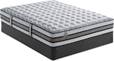 Mattresses and Bedding-iSeries Vantage Firm King Mattress/Split Foundation Set