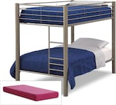 Kids Furniture-Brody Mocha 5 Pc. Twin Bedroom with 2 Mattresses