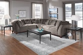 Living Room Furniture-The Brookside II Gray Collection-Brookside II Gray 3 Pc. Sectional (Alternate)