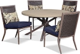 Outdoor Furniture-Vargas 5 Pc. Outdoor Dinette