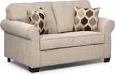 Living Room Furniture-Downey Taupe Twin Sleeper Sofa