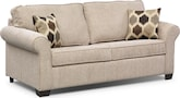 Living Room Furniture-Downey Taupe Full Sleeper Sofa