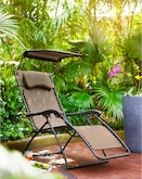 Outdoor Furniture-Larsen Zero Gravity Recliner