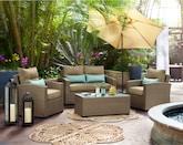 Outdoor Furniture-Aurora 4 Pc. Outdoor Living Room