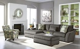 Living Room Furniture-The Orleans Gray Collection-Orleans Gray 2 Pc. Sectional