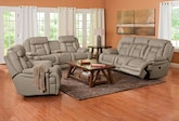 Living Room Furniture-The Springer Wheat Collection-Springer Wheat Power Reclining Sofa