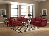 Living Room Furniture-The Perry Red Collection-Perry Red Sofa