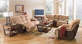 Living Room Furniture-The Putnam Camel Collection-Putnam Camel Dual Reclining Sofa