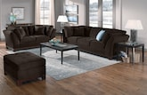 Living Room Furniture-The Brookside Chocolate Collection-Brookside Chocolate Sofa