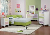 Kids Furniture-The Taylor Green Collection-Taylor Green Twin Corner Bed