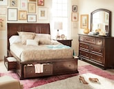 Bedroom Furniture-Copley 5 Pc. Queen Storage Bedroom