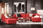 Living Room Furniture-The Hudson Red Collection-Hudson Red 2 Pc. Sectional