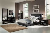 Bedroom Furniture-Prima Black 7 Pc. King Bedroom (Alternate)