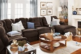 Living Room Furniture-The Telluride Chocolate Collection-Telluride Chocolate 6 Pc. Power Reclining Sectional