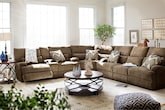 Living Room Furniture-The Navarro Collection-Navarro Power Reclining Sofa