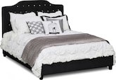 Bedroom Furniture-Layla Black Queen Bed