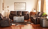 Living Room Furniture-The Aldridge Collection-Aldridge Power Reclining Sofa