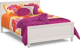 Bedroom Furniture-Riley II White Full Bed