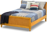 Bedroom Furniture-Riley II Pine Full Bed